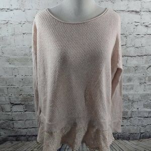 Knitted & Knotted Anthropologie Blush Pink Sweater